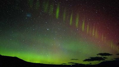 The night sky near Mt Cook, New Zealand was painted green. (RDVB Photography)