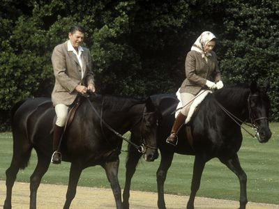 The Queen with Ronald Reagan, 1982