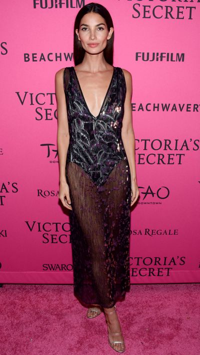 What the Angels and celebrity guests wore to the VS show's pink carpet after-party.