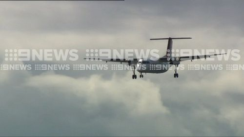 The nose of the aircraft was struck by lightning about 25 minutes into the flight. Picture: 9NEWS