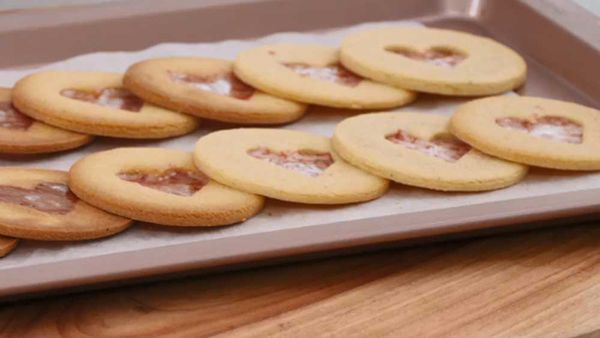 Stained-glass candy cane cookies