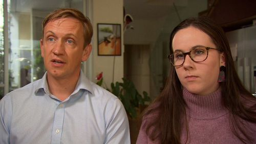 Elanor Hill with her MP father, Julian Hill, are pushing for a warning label on all packets of the Diane-35 pill.