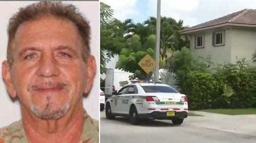 Evelio Gainz's body was found in the master bedroom of his Miami-Dade home after relatives became concerned and asked police to carry out a welfare check.
