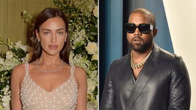 Irina Shayk and Kanye West.
