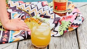 Ginger and pineapple rum punch