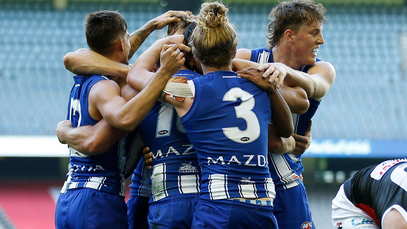 Undermanned North Melbourne defeat Saints in stunning AFL comeback