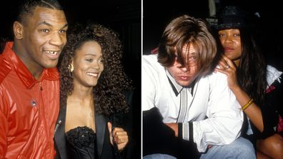 Mike Tyson, Robin Givens and Brad Pitt.