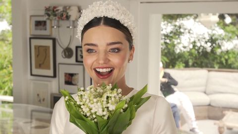 Miranda Kerr Wedding dress fitting