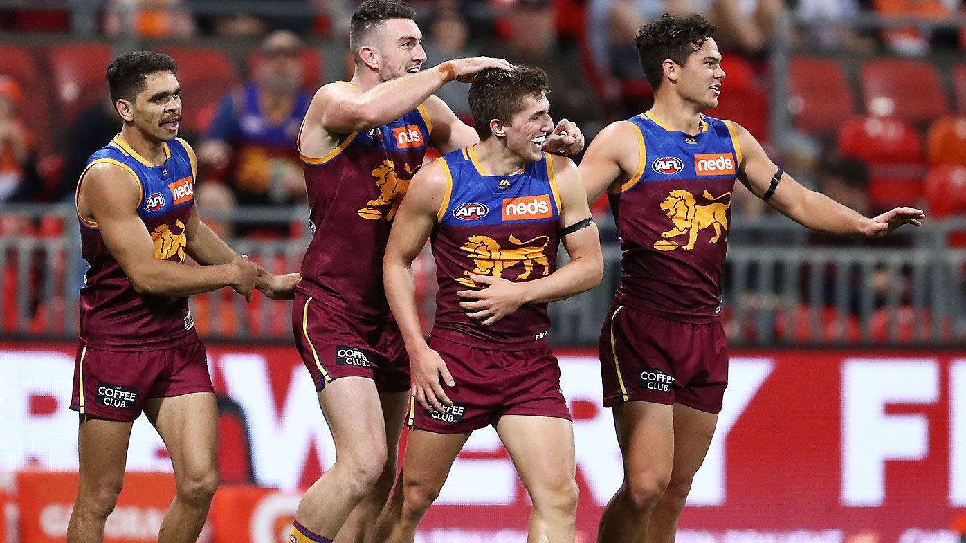 Upstart Brisbane Lions leap into AFL's top four after shocking GWS Giants
