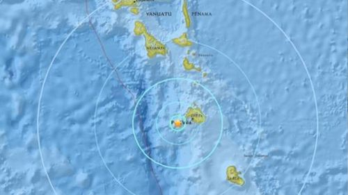 Earthquake strikes Vanuatu