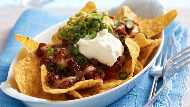 Bean nachos for $10