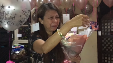 Woman surprised with anniversary celebration following husband's death
