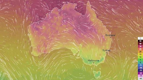 Parts of Australia's eastern states are set for a string of cooler-temperature days over the weekend as rain and clouds passes over.