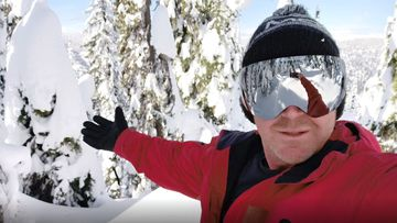 Richard Evans is a keen snowboarder, used to run daily and said he was quite fit before he got sick with coronavirus.