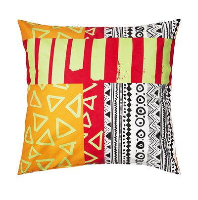 "SPRIDD cushion cover, $25, <a href=""SPRIDD t-shirt, $9.99, IKEA"" target=""_blank"">IKEA</a>"