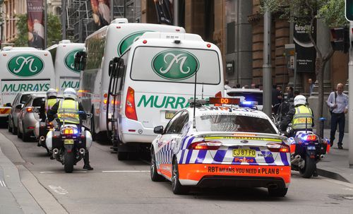 Officers will be able to close down roads and search people in the street. Picture: AAP