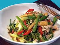 Sweet chilli chicken with Thai veggies