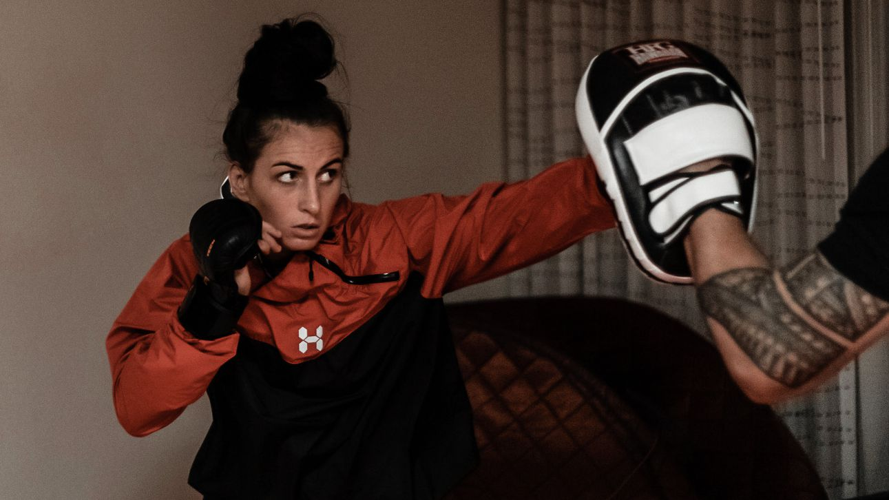 Casey O'Neill training in Las Vegas ahead of her UFC debut.