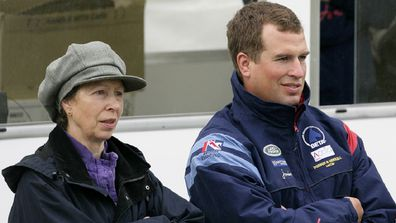 Princess Anne and Peter Phillips.