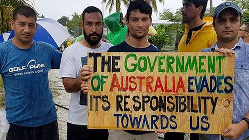 The men who want to stay at the Manus Island facility have been told they may be removed if they don't leave of their own accord. (AAP)
