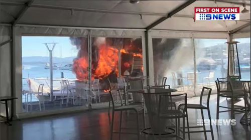 Authorities are now investigating the cause of the inferno. Picture: 9NEWS.