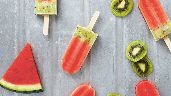Lickalix watermelon and kiwi ice blocks