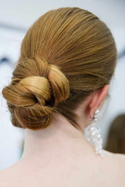 The braided bun spotted at Sachin & Babi.
