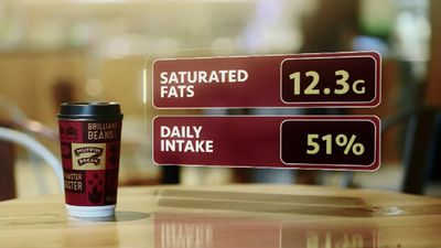 <p>Muffin Break's large chai latte contains just over half the daily allowance of saturated fat.</p><p>(9NEWS)</p>