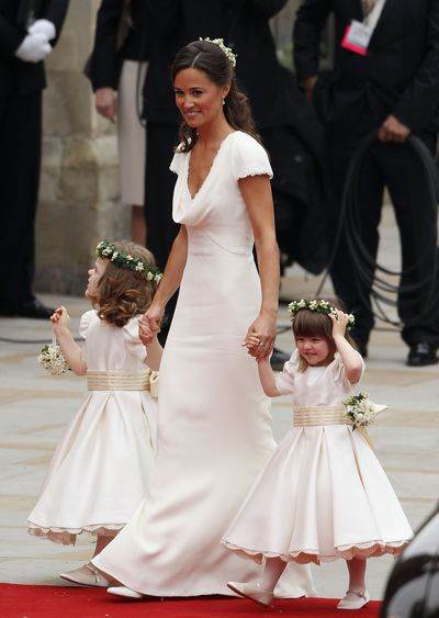 Perhaps the ultimate upstage. Pippa Middleton at sister Kate's wedding to Prince William.