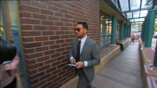 Salim Mehajer at court today. (9NEWS)