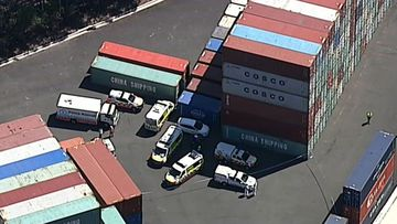 A man has been hurt at Port Botany.