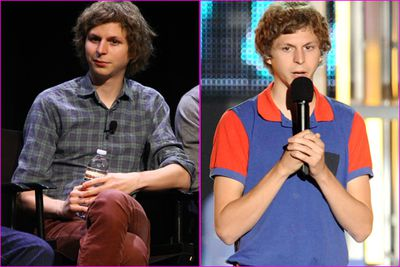 Wrong hair. Checked shirt and maroon jeans. Wrong, 70's-style shirt. Michael Cera gets the crown for daggiest hipster of them all.