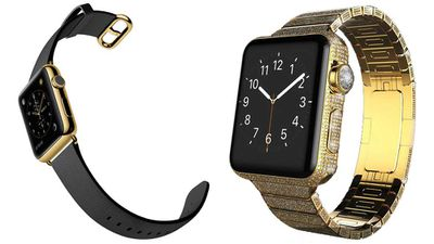 Blinged-out Apple watches