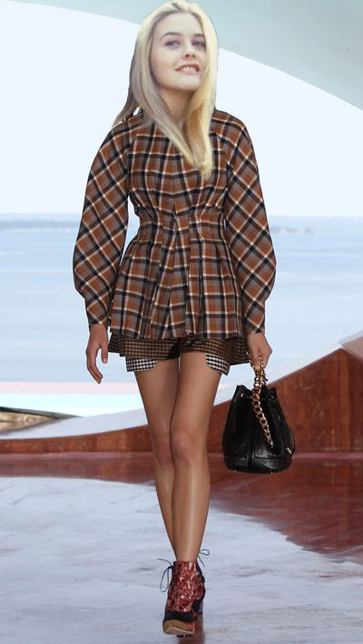 <p>Cher's love of plaid would manifest in a purchase from Dior's Cruise 2016 collection.</p>