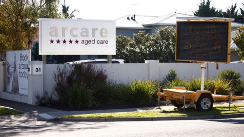 Residents are being tested at the Arcare aged care home after the worker's positive diagnosis.