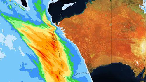 Heavy rain is hitting Western Australia.