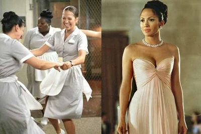 Jenny from the block is a hotel maid uncomfortably posing as a rich socialite. Turns out, the guy she's after likes her just as she is. Naww!