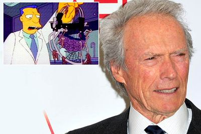 Very Serious Actor and Director Clint Eastwood was offered the role of creepy dentist Dr Wolfe in season four's 'Last Exit to Springfield' (another all-time classic episode). <br/><br/>After he said no, producers asked Anthony Hopkins (who also said no), then Anthony Perkins (who said yes, but died before he could record the part), and finally settled on <i>Simpsons</i> regular Hank Azaria.