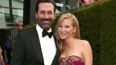 Mad Men's John Hamm with actress Jennifer Westfeldt. (Getty)