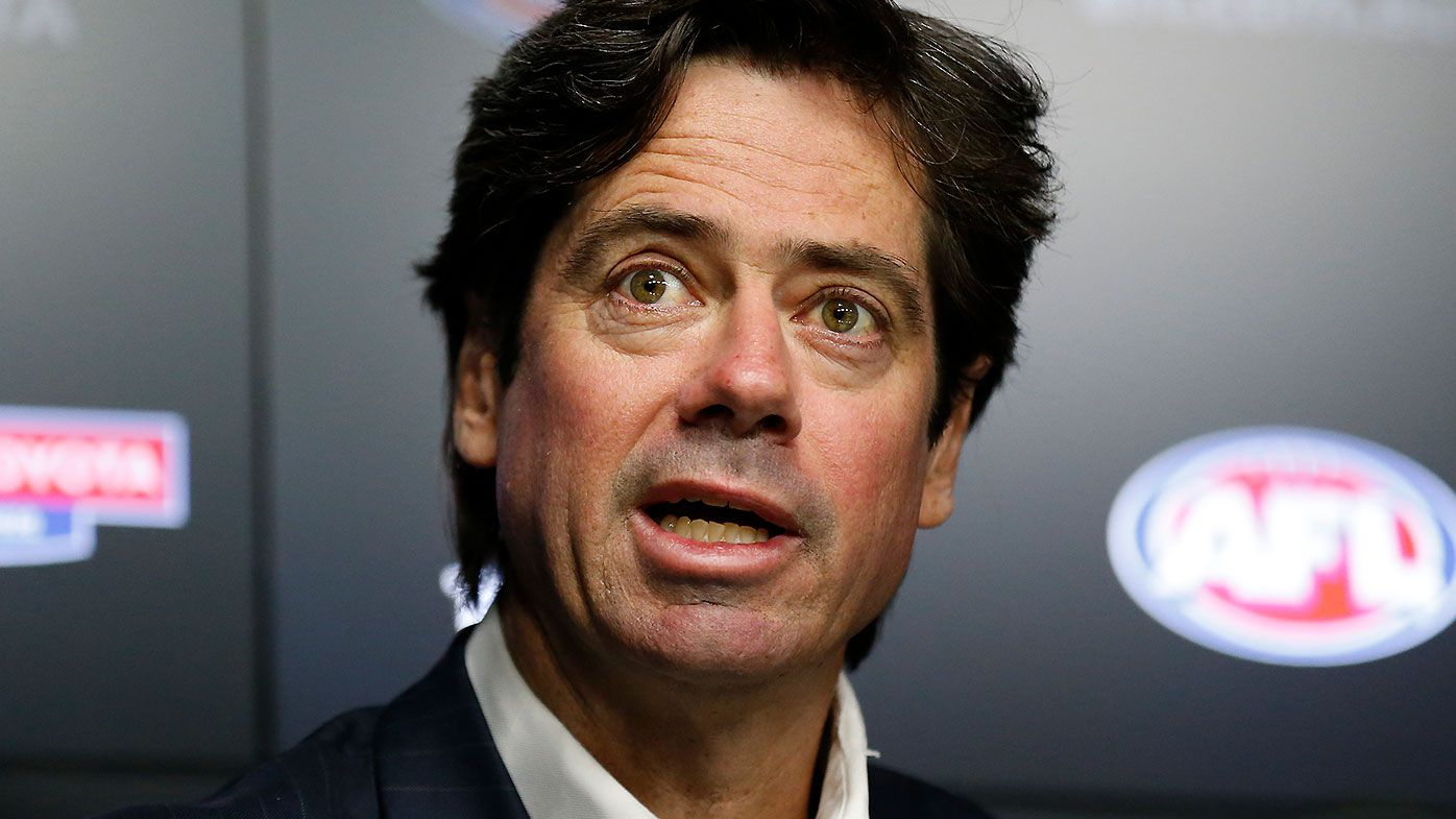 AFL CEO Gillon McLachlan confirms Victorian clubs will head to Queensland hub