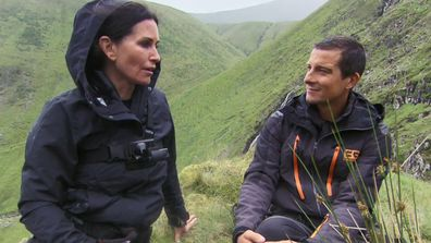 Couteney Cox opened up to Bear Grylls after a scary experience.