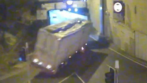 The crash was captured on CCTV.