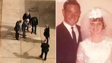 Husband 'shows where wife's body has been for 45 years'