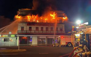 Dozens evacuated as Bundaberg hotel goes up in flames
