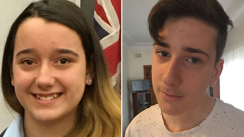 Teenagers Jennifer, 13, and Jack, 15, were shot dead by their father at their father in their bedrooms last Thursday night. Picture: Supplied