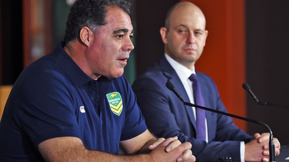 Mal Meninga is announced as the new Kangaroos coach. (AAP)