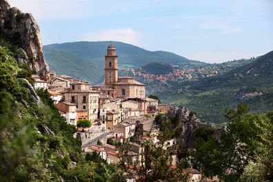 Medieval village in Abruzzo, Italy