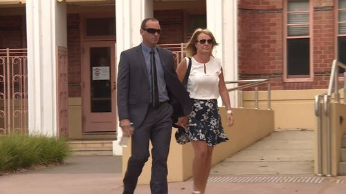 The accused was supported by his wife in the Wangaratta Magistrates' Court today.