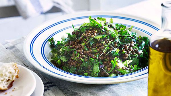 Lentil and coriander salad