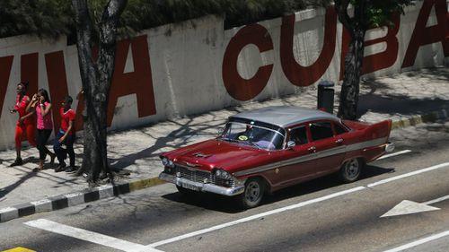 Cuban capital Havana is awash with vintage American cars. (AAP)